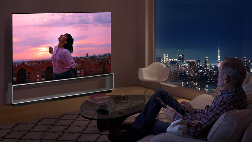 The new LG Signature OLED 88ZX television.