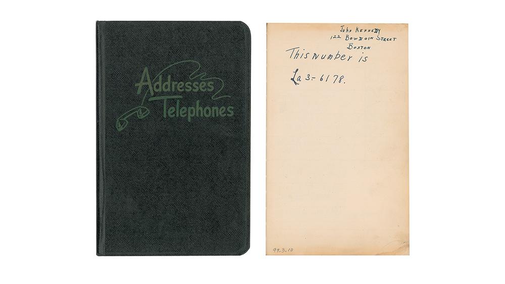President John F. Kennedy's address book