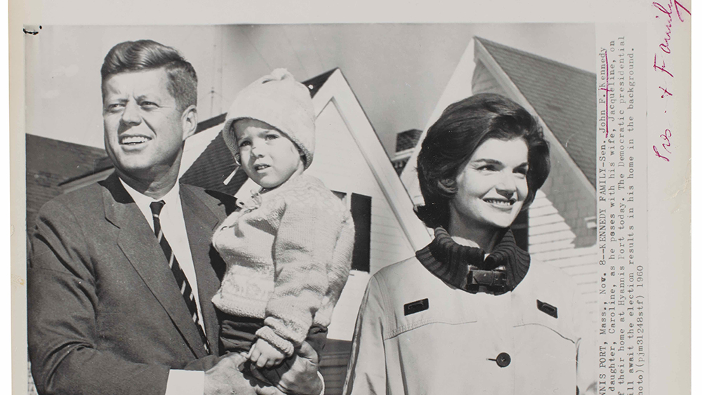 President John F. Kennedy, Jacqueline Kennedy and child