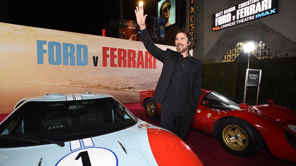 Christian Bale at the premiere of the 'Ford v Ferrari' movie.