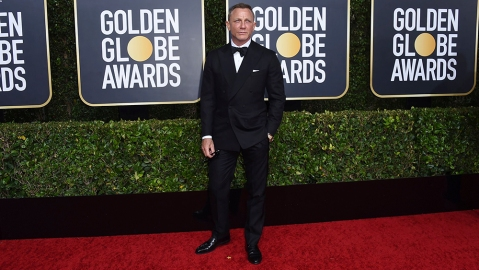 Daniel Craig arrives at the 77th annual Golden Globe Awards at the Beverly Hilton Hotel, in Beverly Hills, Calif77th Annual Golden Globe Awards - Arrivals, Beverly Hills, USA - 05 Jan 2020