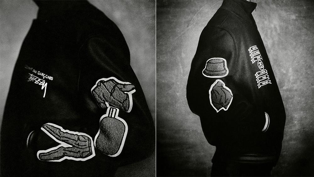 Stüssy x Comme des Garçons varsity jacket