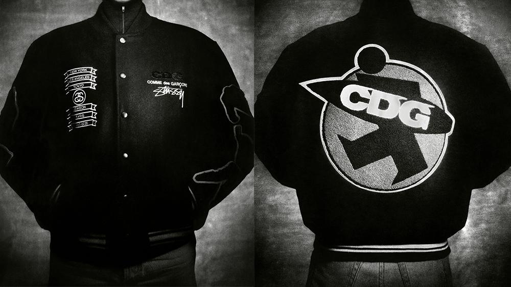Stüssy collaborates with Comme des Garçons on a varsity jacket