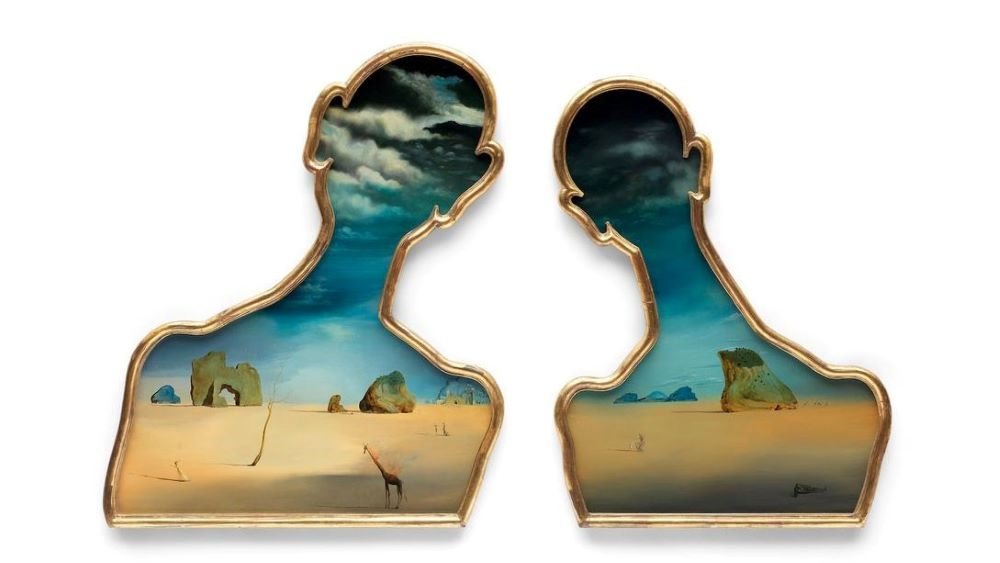 Salvador Dalí's Couple with their heads full of clouds 1937
