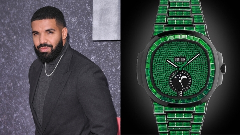 Drake and his customized Patek Philippe Nautilus