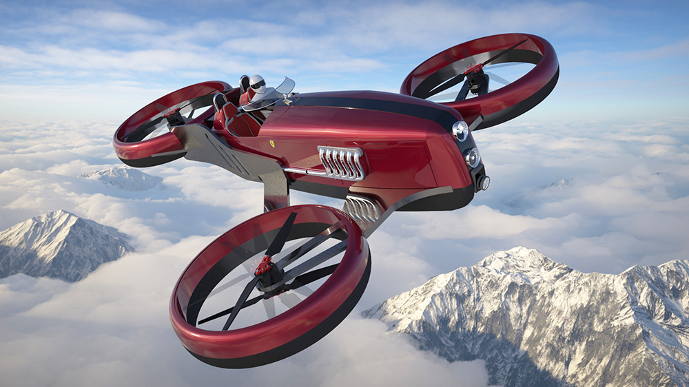 Lazzarini Design Studio's FD-One flying car concept