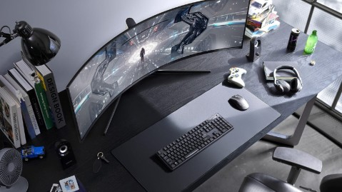The Samsung Odyssey G9 curved computer monitor