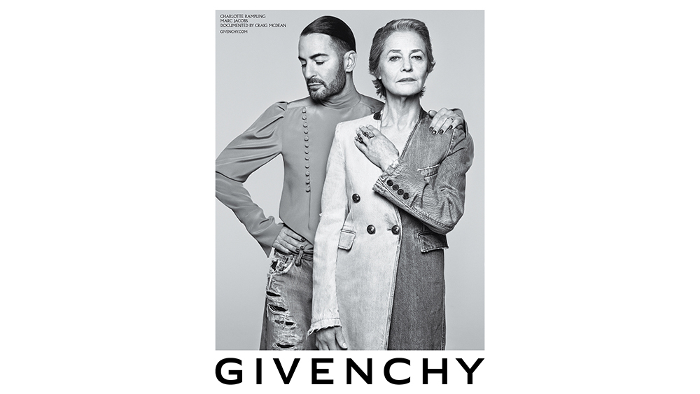 Givenchy SS20 Campaign Marc Jacobs and Charlotte Rampling
