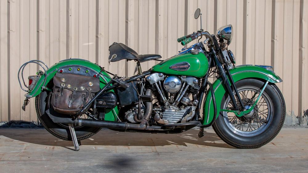 A highly original 1940 Harley-Davidson EL Knucklehead motorcycle.