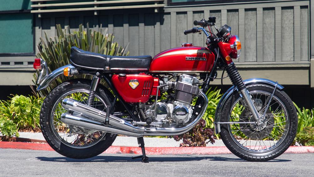 A 1969 Honda CB750 Sandcast.