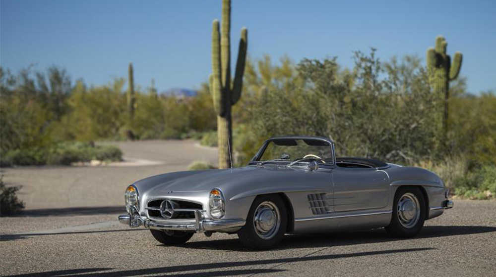 This 1957 Mercedes 300SL Roadster sold for $1,045,000.