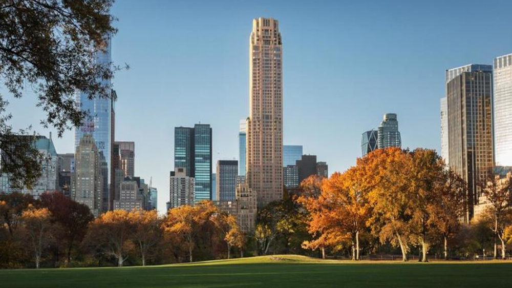 View of 520 Park Avenue from Central Park