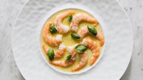prawns olive oil
