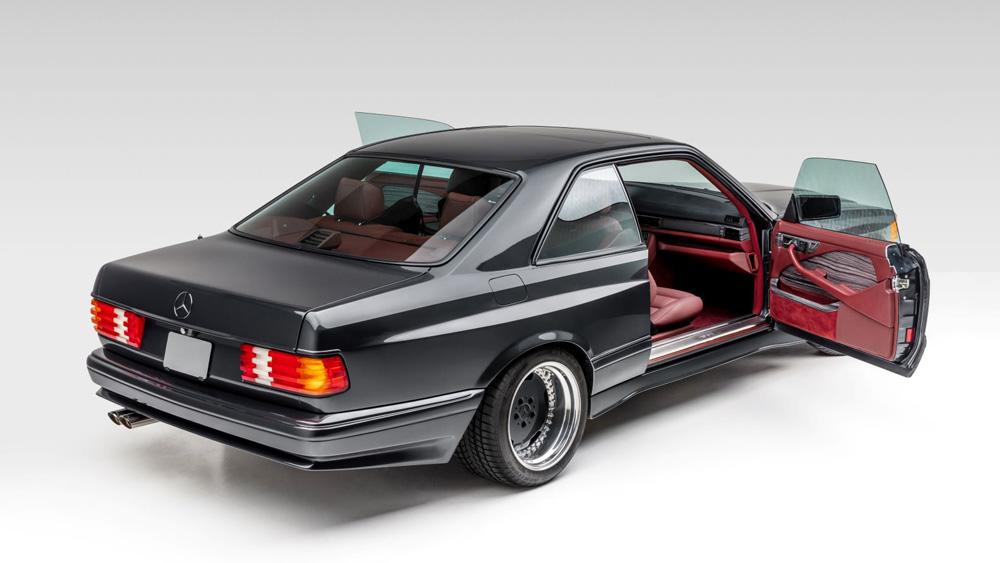 A restomod 1989 Widebody Mercedes 560 SEC Coupe.