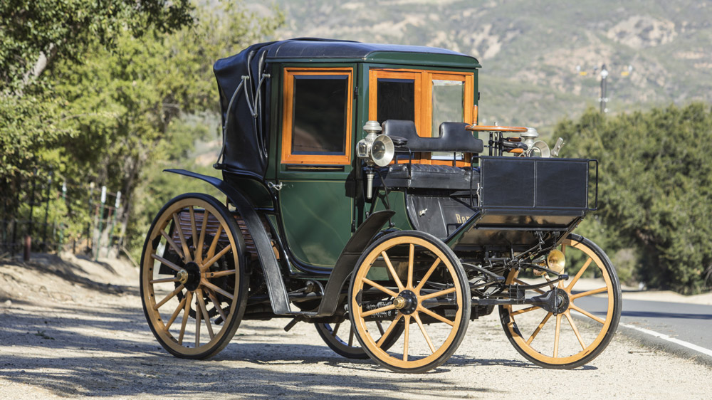 An 1897 10hp Benz Mylord-Coupe.