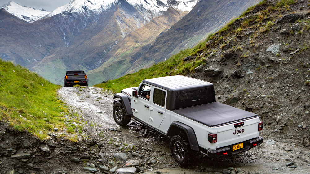 Test-driving the Jeep Gladiator Rubicon in New Zealand.