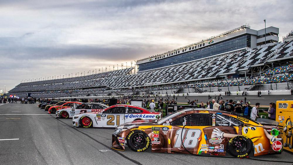 The Daytona International Speedway.