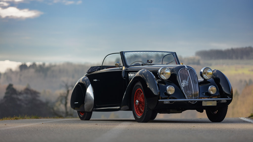 The 1938 Alfa Romeo 6C 2300 B Lungo Cabriolet by Worblaufen on offer at Artcurial's 2020 Rétromobile auction.