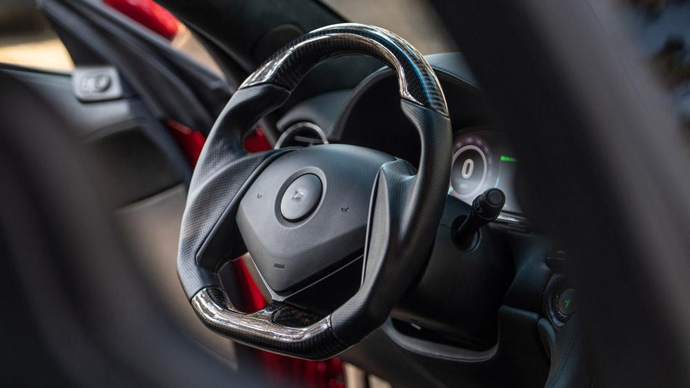 A peek inside the Drako GTE.