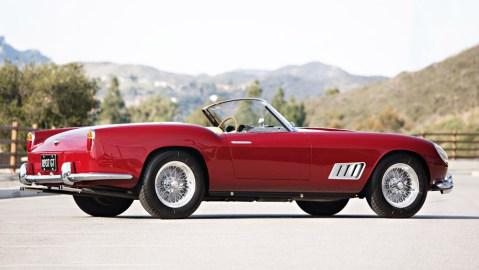 A 1958 Ferrari 250 GT LWB California Spider.