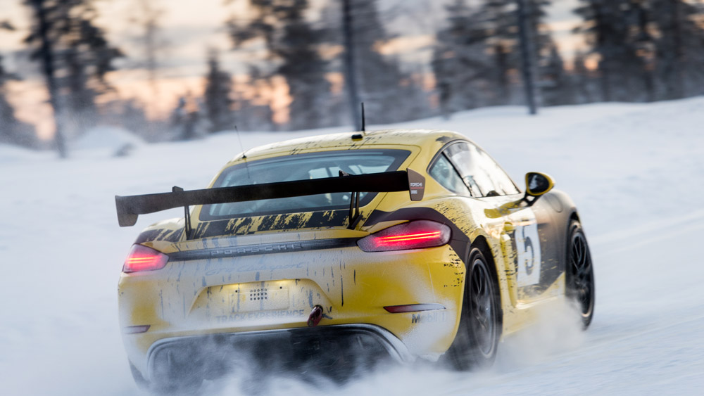 Participating in the Porsche Ice Force Pro course in Finland.