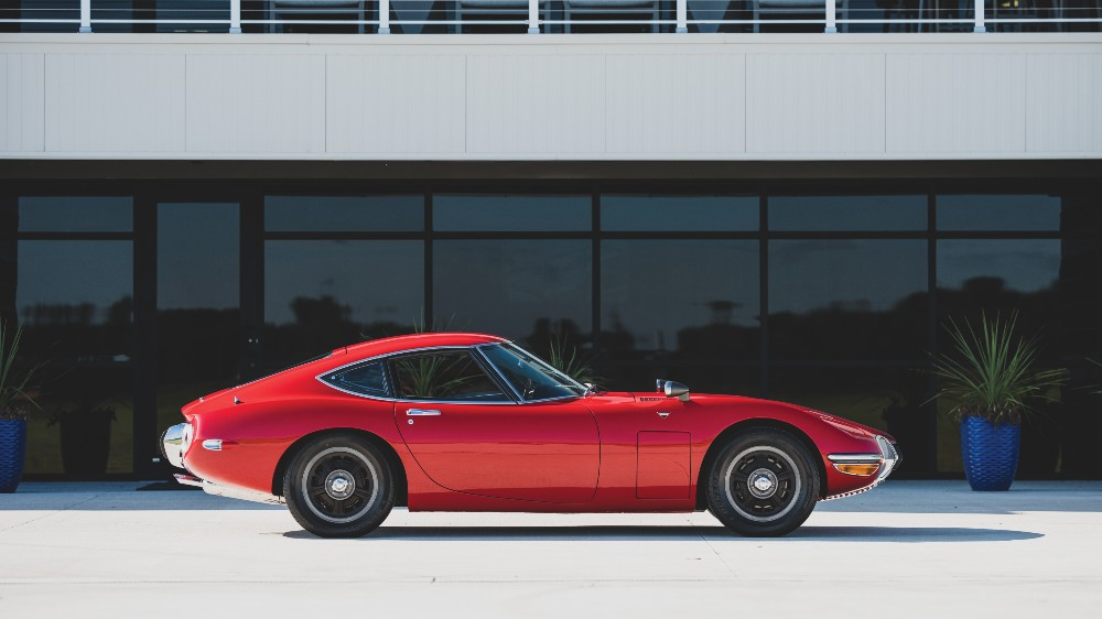 1967 Toyota 2000GT in Solar Red