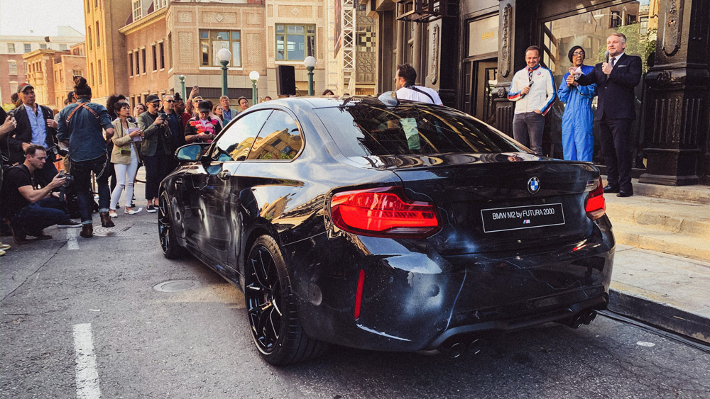 The unveiling of the BMW M2 Edition designed by Futura 2000.