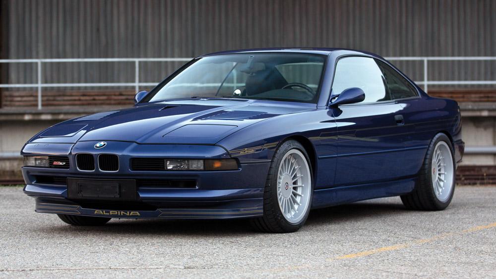 A 1993 BMW Alpina B12 5.7 Coupe.