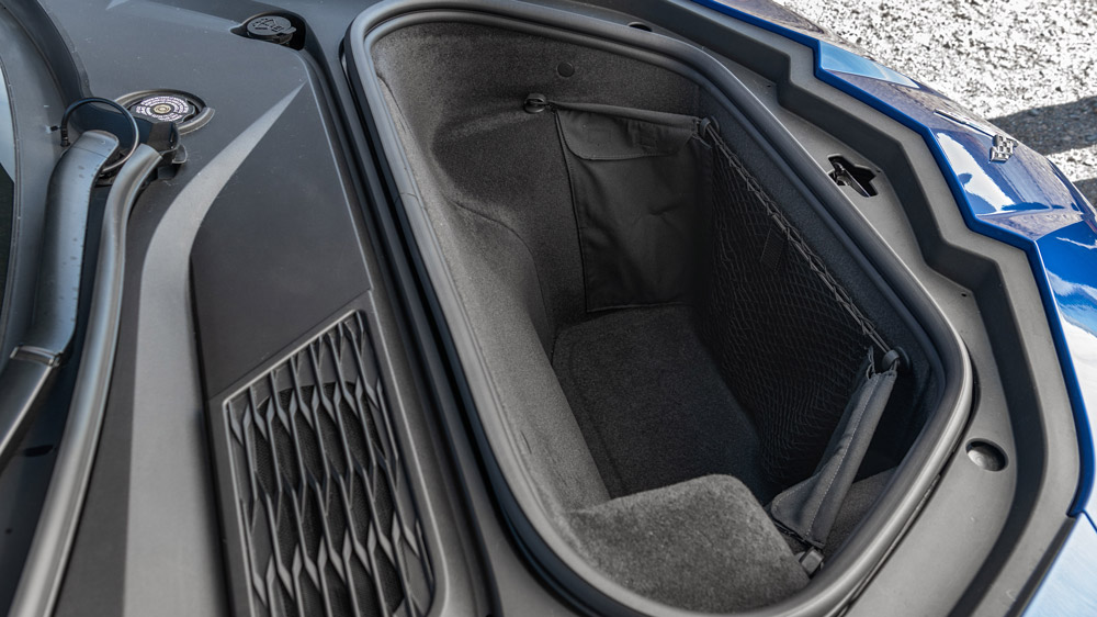 The front trunk of the 2020 Corvette Stingray.