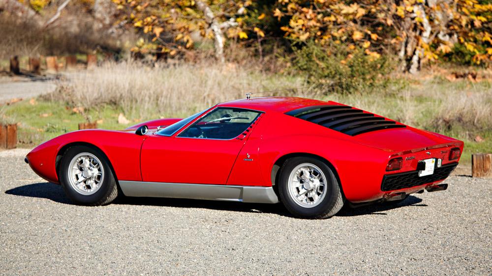 A 1969 Lamborghini Miura.