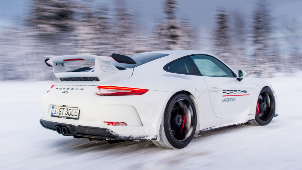 The Porsche Ice Force Pro course in Finland.