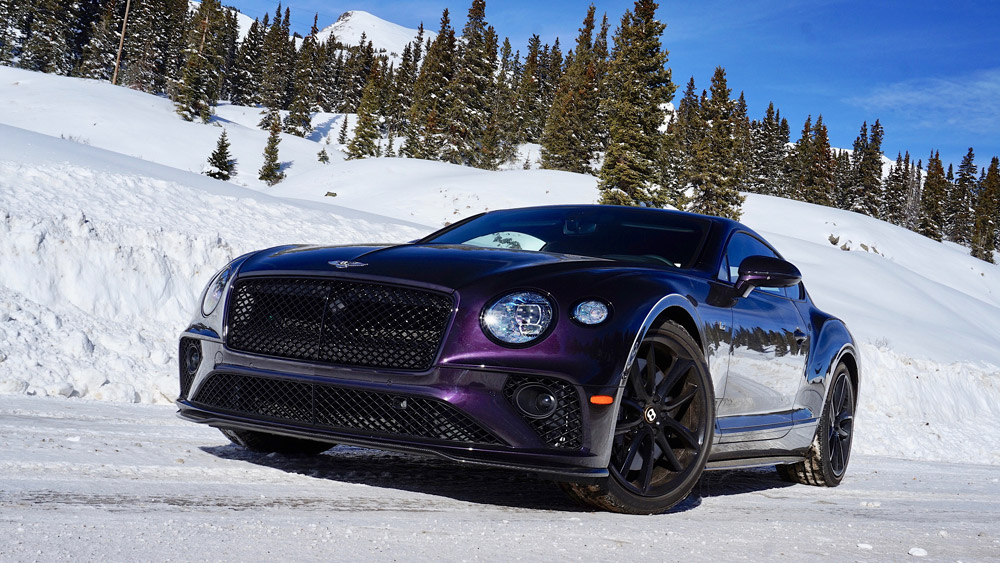 A 2020 Bentley Continental GT V8.