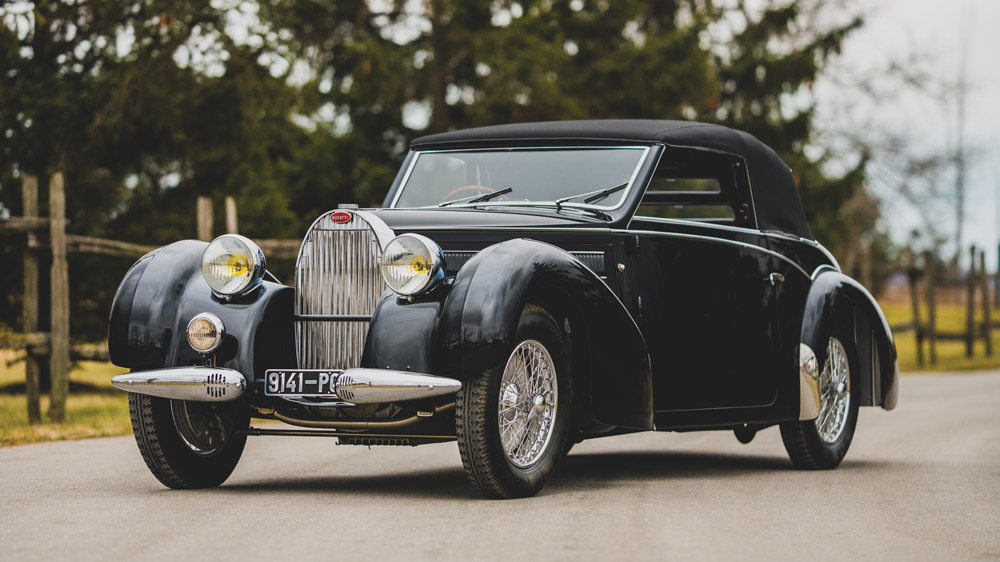 A 1939 Bugatti Type 57C Stelvio.