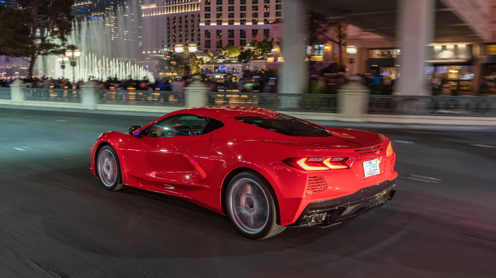 The 2020 Corvette Stingray in Las Vegas.