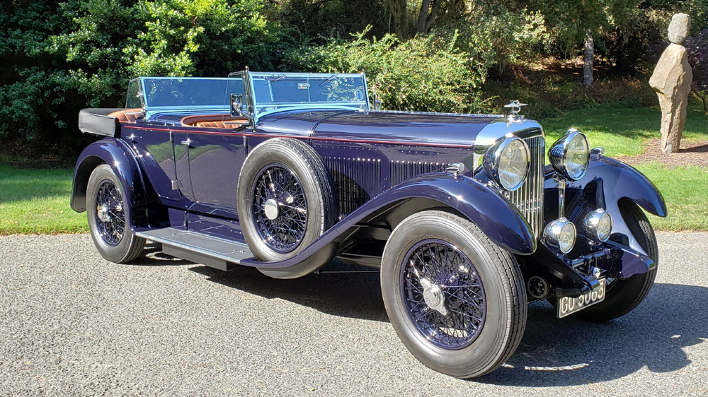 The 1931 Bentley 8 Litre Dual Cowl Tourer, with coachwork by Gurney Nutting, that earned top honors at the 2019 Pebble Beach Concours d'Elegance.