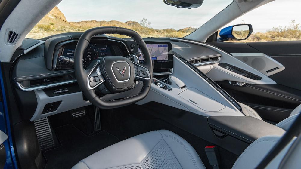 Inside the 2020 Corvette Stingray.