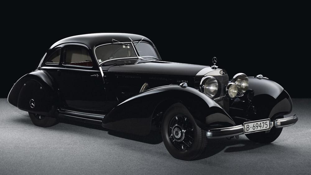 A 1938 Mercedes-Benz 540 K Autobahn-Kurier.