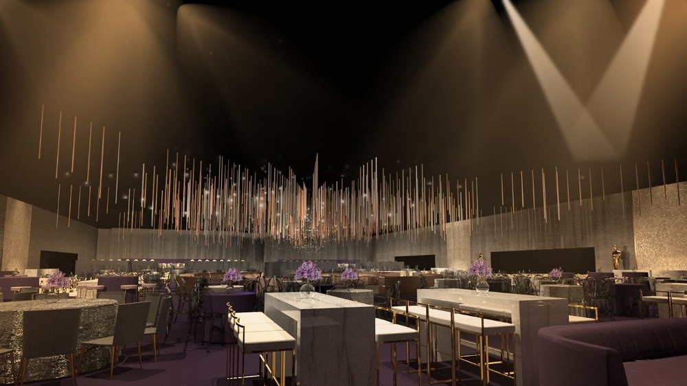 A rendering of the 92nd Oscars Governors Ball