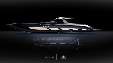 A sneak peak of Mercedes-AMG and Cigarette Racing's new boat collaboration