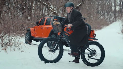 Bill Murray on the Jeep e-Bike