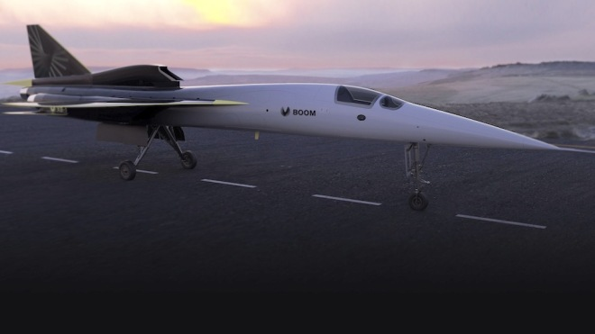 Boom Supersonic XB1 carbon neutral aircraft using sustainable fuel