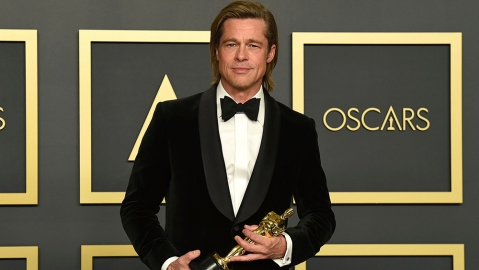 "Brad Pitt, winner of the award for best performance by an actor in a supporting role for ""Once Upon a Time in Hollywood"", poses in the press room at the Oscars, at the Dolby Theatre in Los Angeles92nd Academy Awards - Press Room, Los Angeles, USA - 09 Feb 2020"
