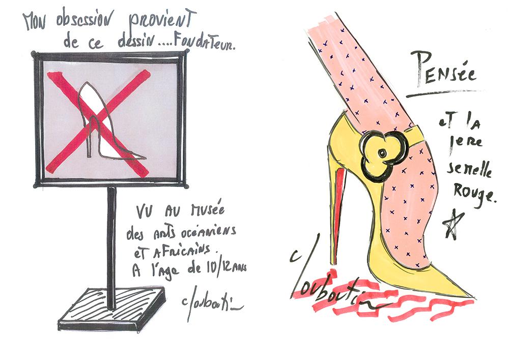 Christian Louboutin sketches