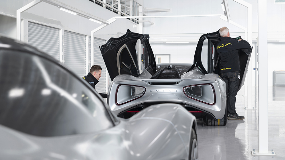 A look inside the new facility where the Lotus Evija will be built.