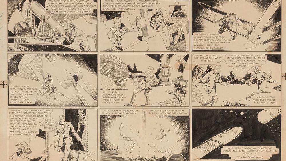 Flash Gordon Comic Strip