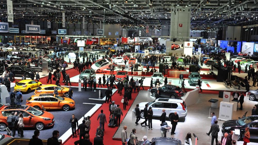 The floor of the Geneva International Auto Show in 2012