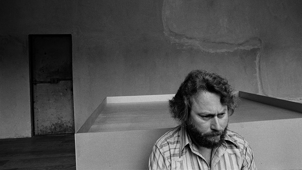 Portrait of Donald Judd in his Soho studio, New York City, New York, September 15, 1973. (Photo by Arnold Newman Properties/Getty Images)