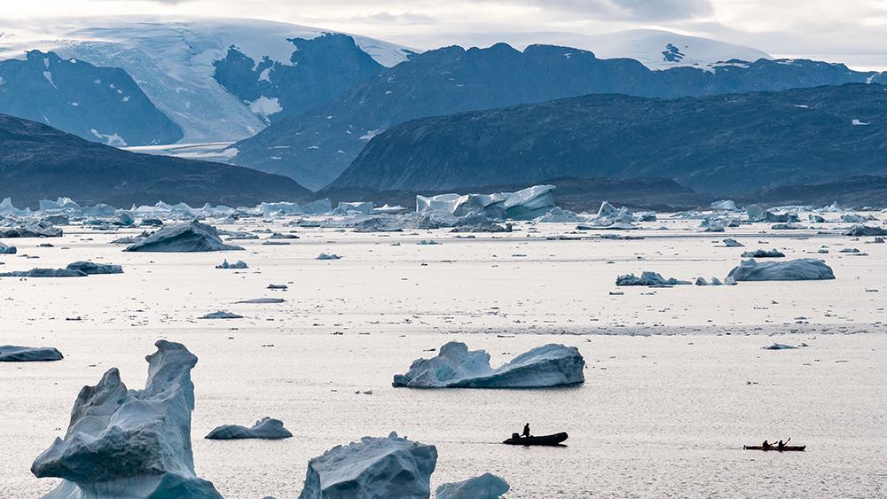 Greenland glacier Zodiac and kayak
