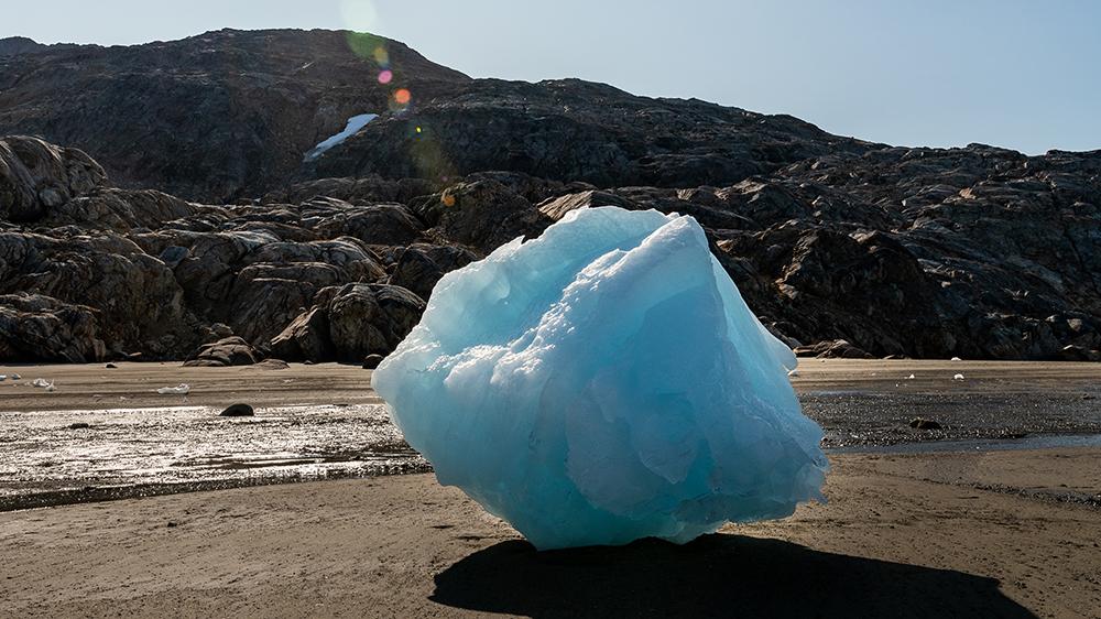 Greenland melted glacier