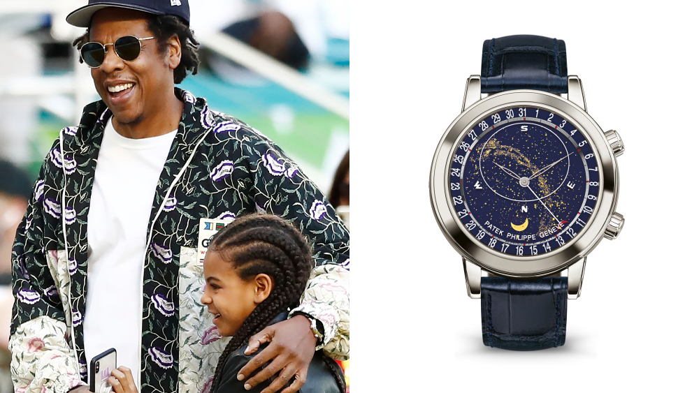 Jay Z, Blue Ivy Carter and his Patek Philippe Sky Moon Celestial